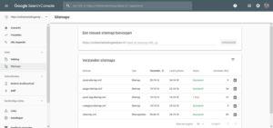 online marketing Google Search Console GSC Index Sitemaps