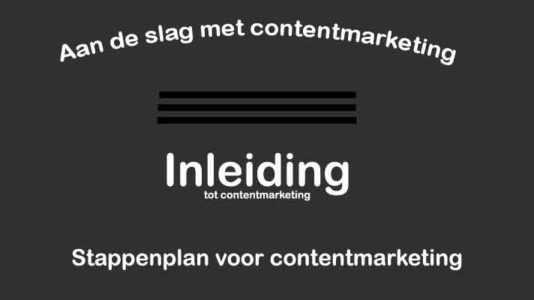online marketing Inleiding content marketing