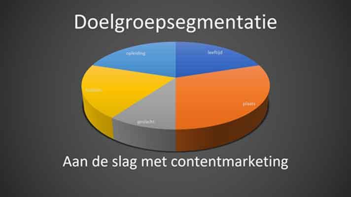 doelgroep analyse met doelgroepsegmentatie onlinemarketinganalyse